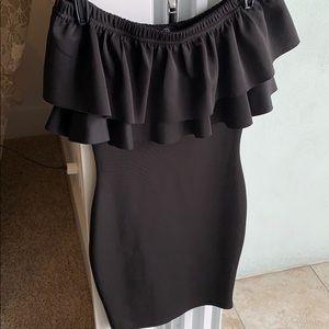 Black Missguided size 2 super tight dress